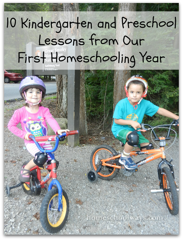 10 Kindergarten and Preschool Lessons from Our First Homeschooling Year