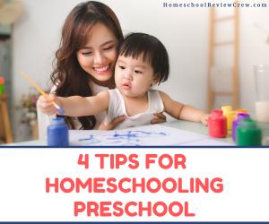 4 Tips for Homeschooling Preschool @ HomeschoolReviewCrew.com