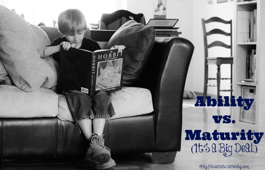 Ability vs Maturity
