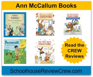 It's time to eat your homework! {Ann McCallum Books Review}