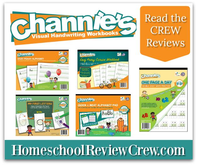 Channie's Visual Handwriting & Math Workbooks {Reviews