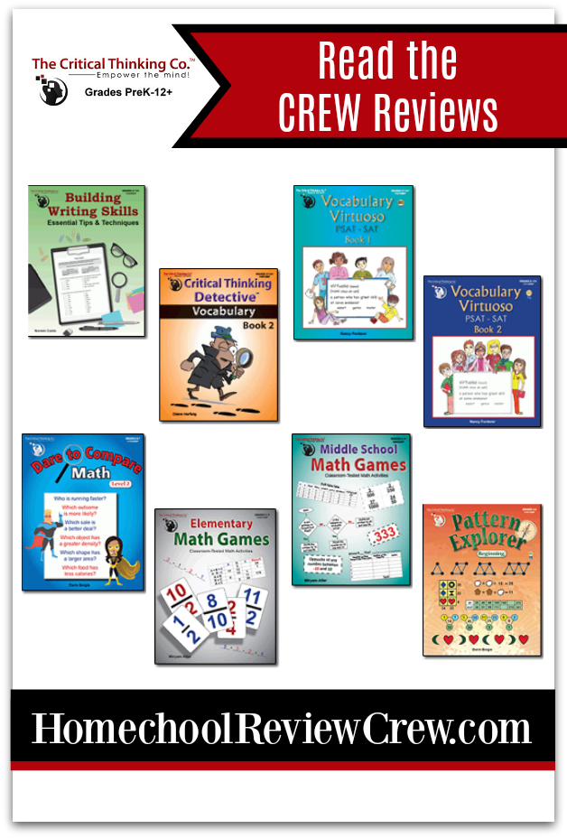 Critical Thinking, Math, Vocabulary & Writing Skills {The Critical Thinking Co. Reviews}