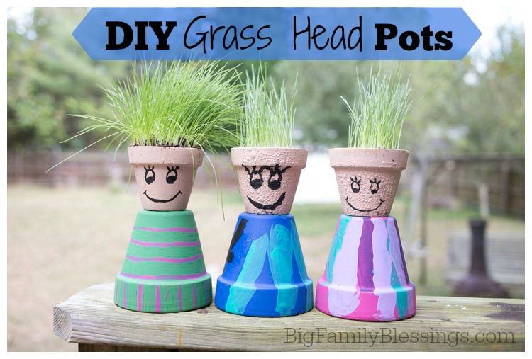 Do it yourself Grasshead pots