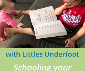 Homeschooling with Littles Underfoot {Homeschool Link UP}