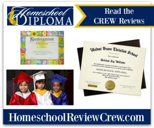 Diplomas, Caps & Gowns for your graduates. {Homeschool Diploma Reviews}