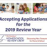 2019 Homeschool Review Crew Applications Now Open