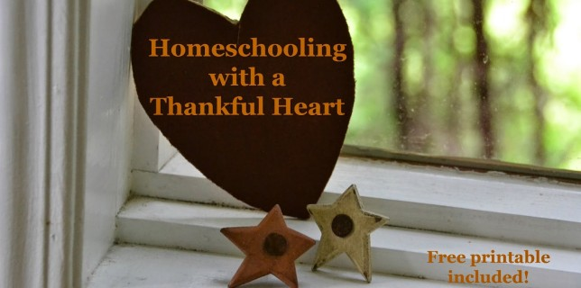 Homeschooling with a Thankful Heart
