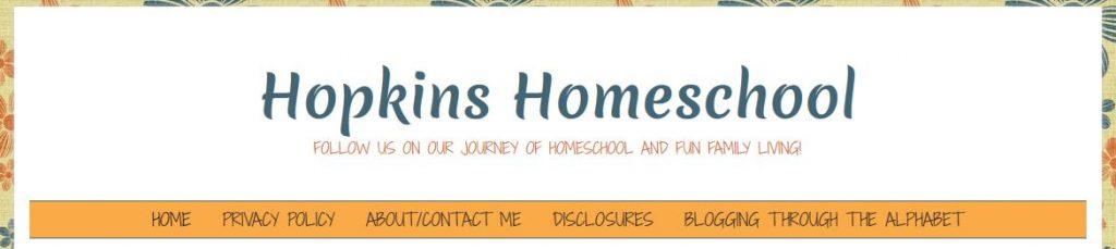 Hopkins Homeschool Blog Header