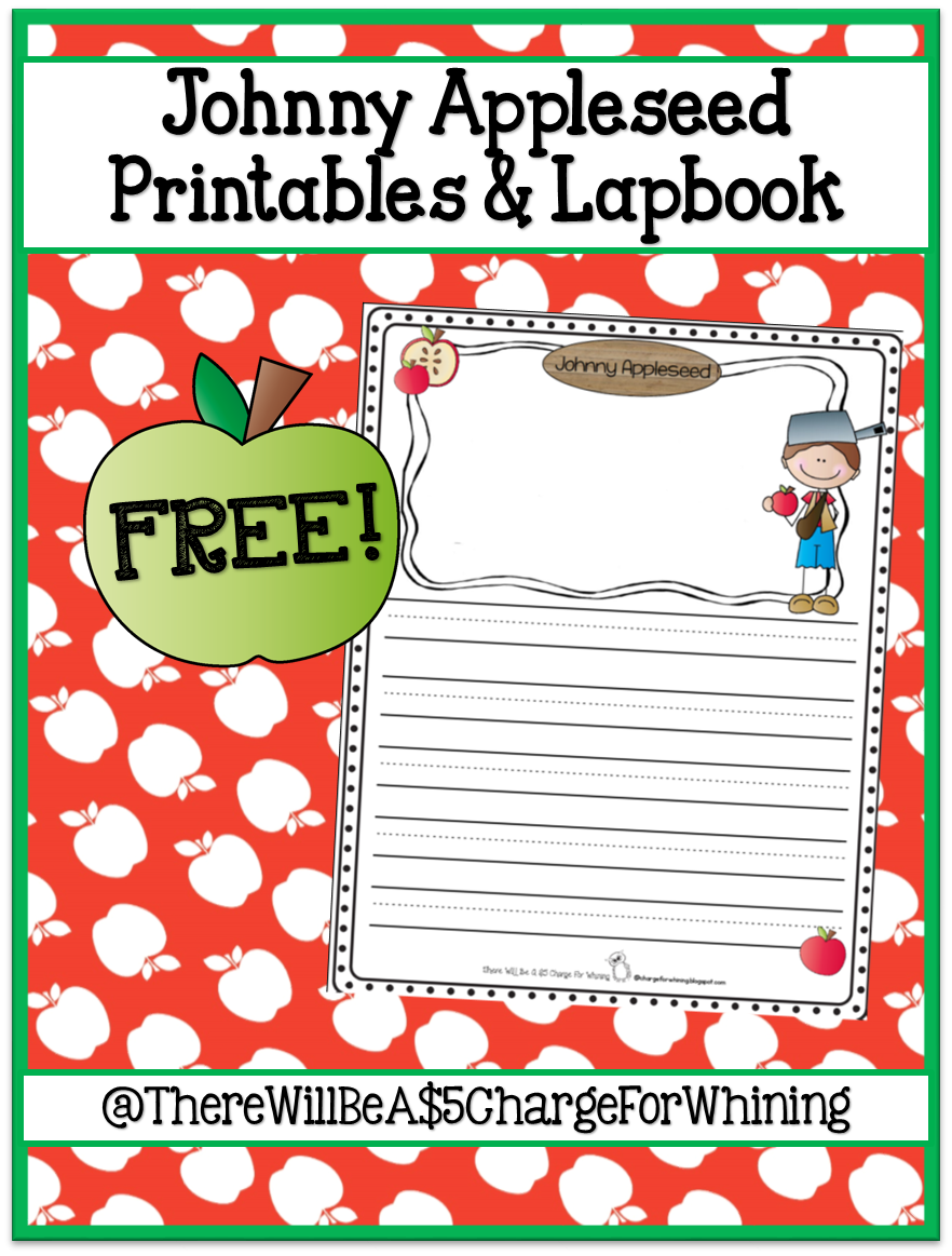 Johnny Appleseed Printables and Lapbook FREE download