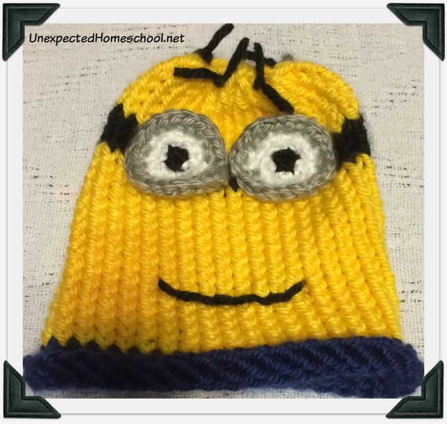 Knitted Minion Hat