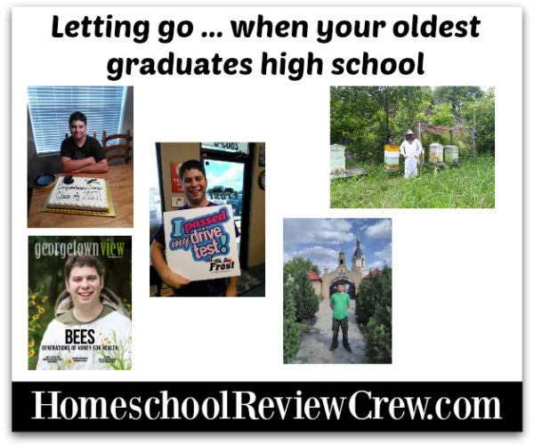 Letting go … when your oldest graduates high school {Weekly Homeschool Linky Party}
