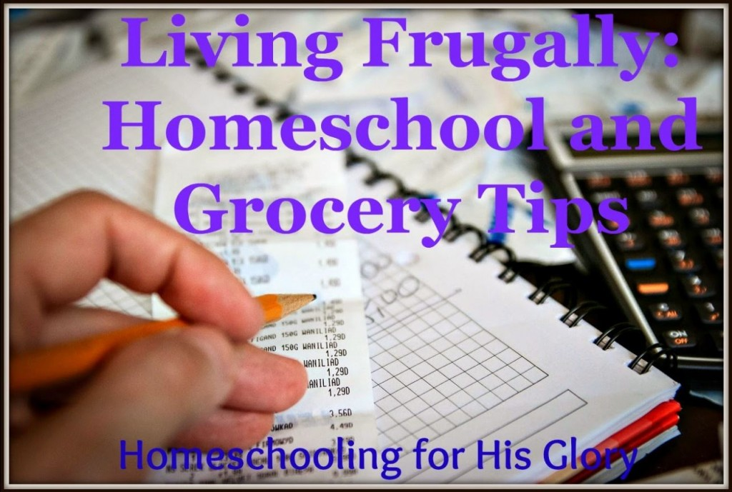 Living Frugally Homeschool and Grocery Tips