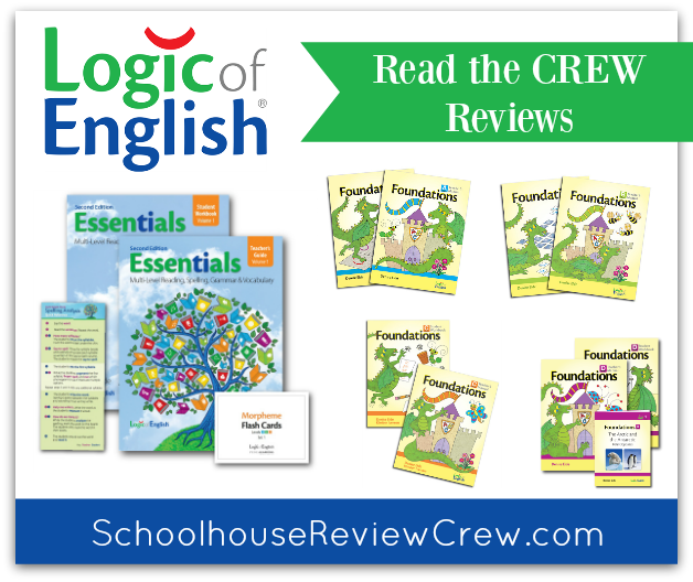 Logic of English 2016 Schoolhouse Review Crew Reviews