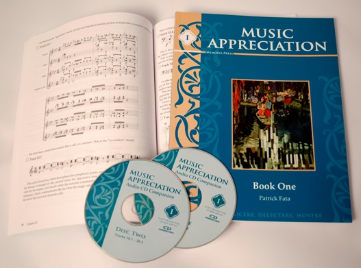 Music Appreciation I Set, classical christian education, classical christian curriculum, classical christian homeschool curriculum, memoria press, product names, classical education
