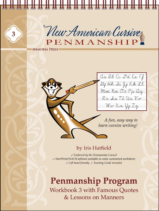 New American Cursive 3 (Famous Quotes & Lessons on Manners)