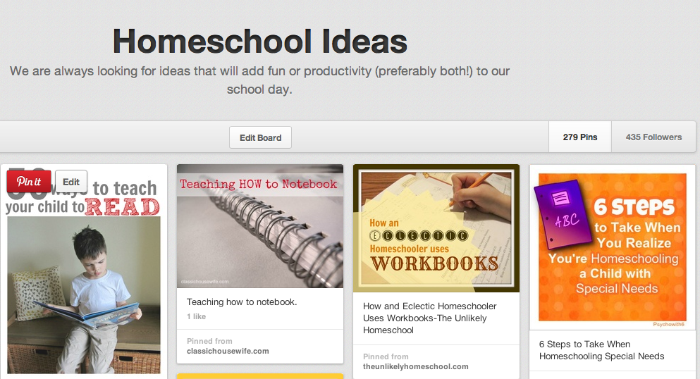 Pinterest Explained: Finding Free Homeschool Curriculum