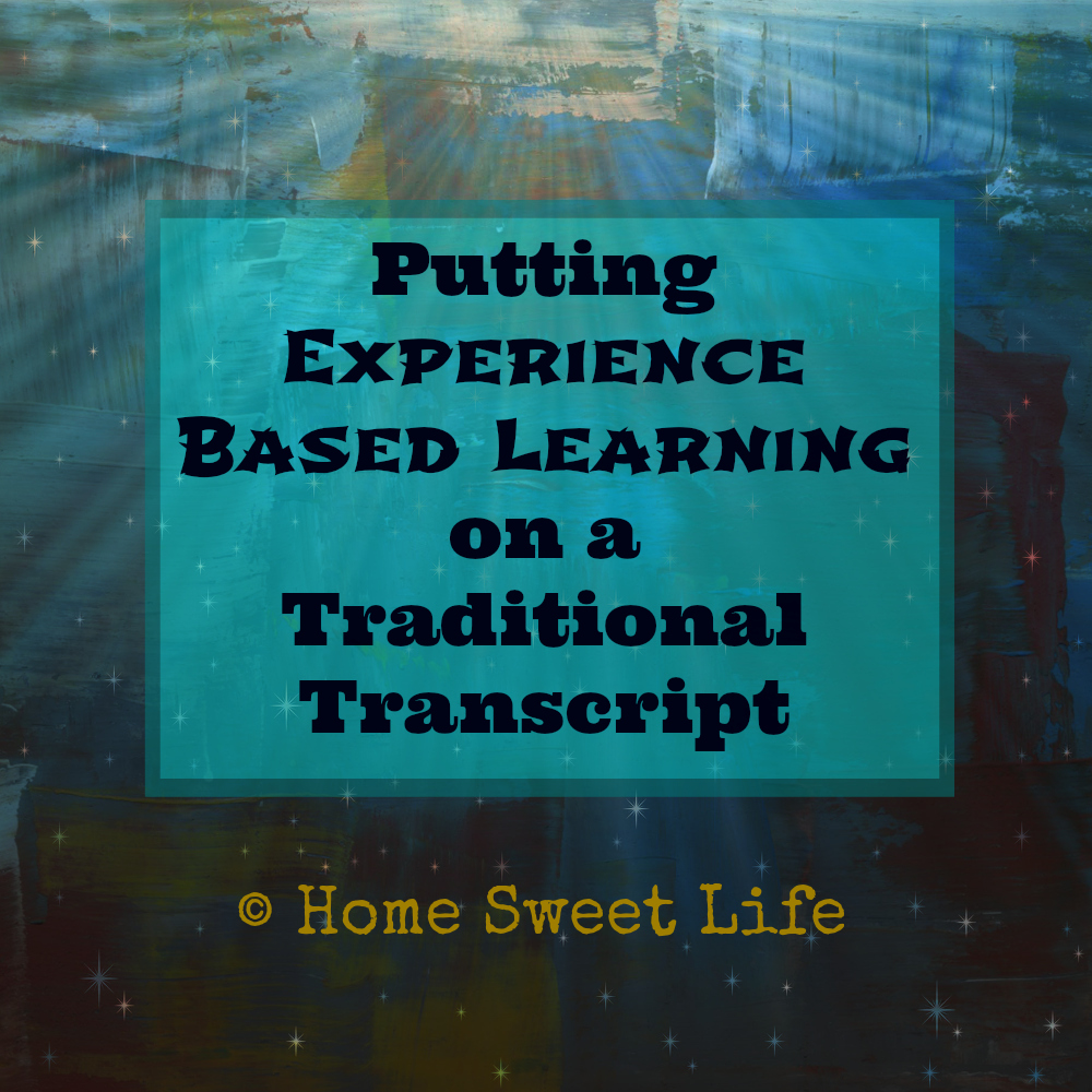 Putting Experience Based Learning on a Traditional Transcipt