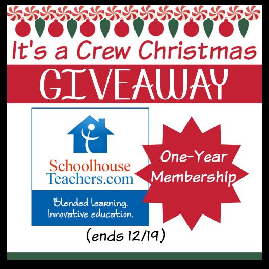 SchoolhouseTeachers.com Giveaway
