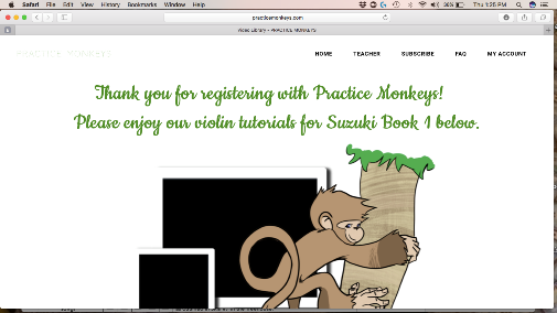 Practice Monkeys Violin Lessons