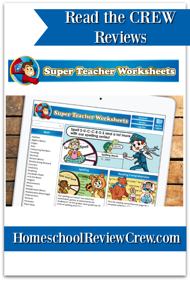 Printable Activities And Worksheets Super Teacher Worksheets Reviews Homeschool Review Crew
