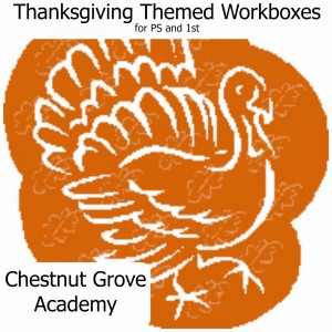 Thanksgiving Themed Workboxes by Chestnut Grove Academy