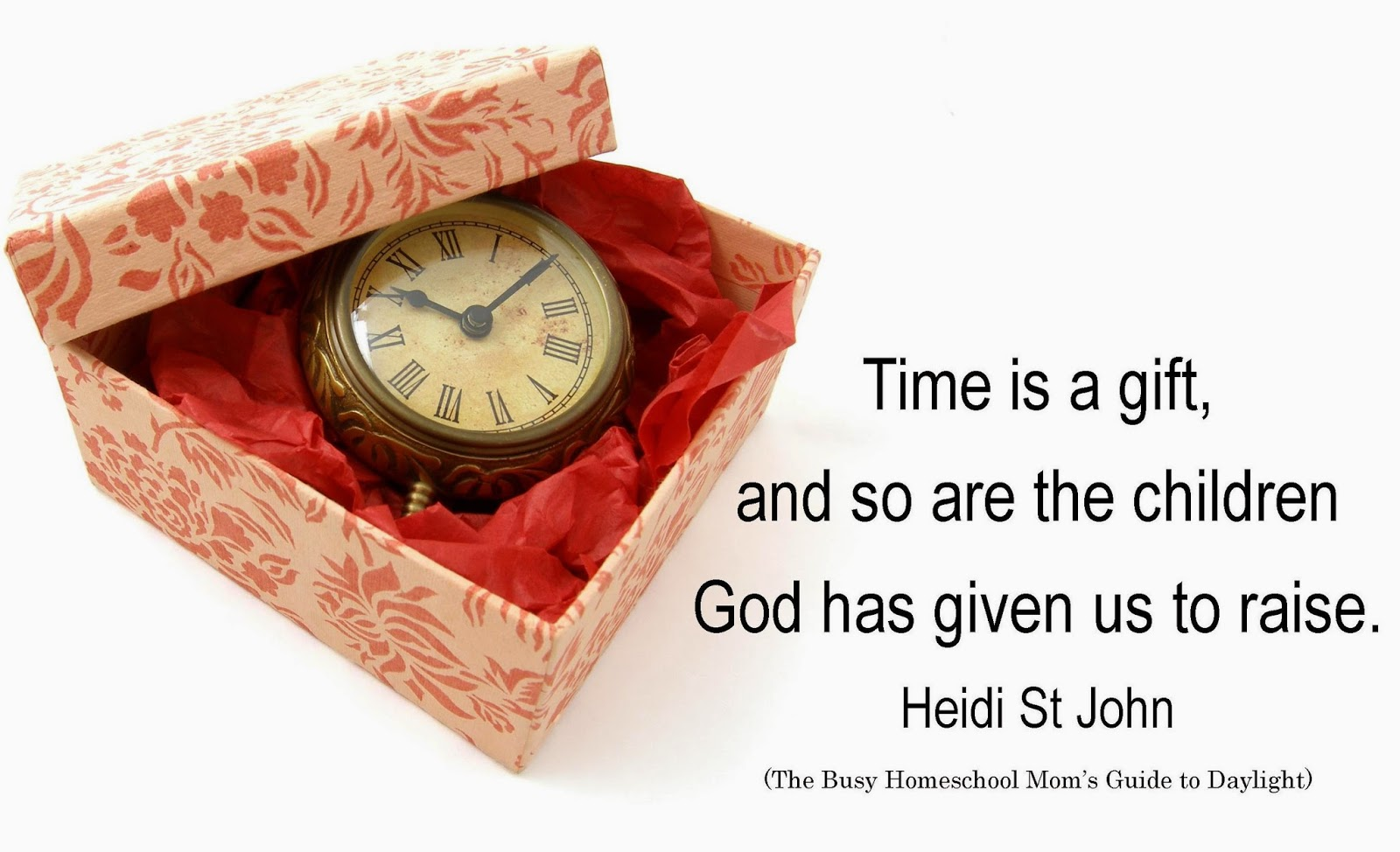 Time is a gift and so are the children God has given us to raise Heidi St John