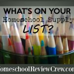 School Supplies {Back to Homeschool Annual Blog Hop – 2017}