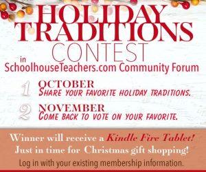 Win a Kindle Fire Tablet on the Schoolhouse Teachers Forum!