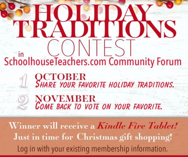 Win a Kindle Fire Tablet on the Schoolhouse Teachers Forum!