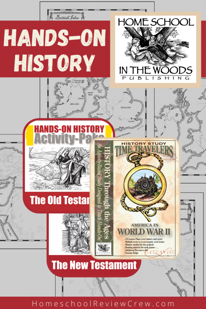 Hands-on History with Homeschool in the woods.