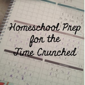Homeschool Prep for the Time Crunched