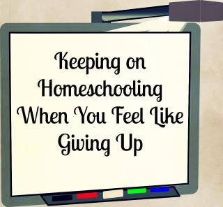keeping on homeschooling when you feel like giving up