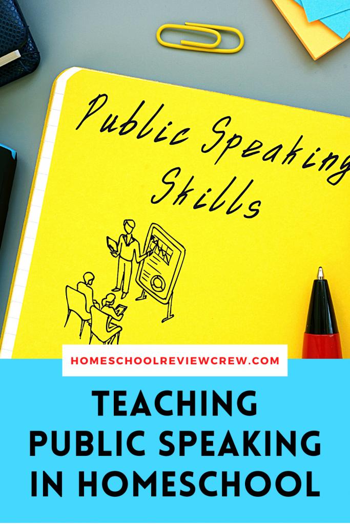 Teaching Public Speaking Skills in Homeschool @ HomeschoolReviewCrew.com