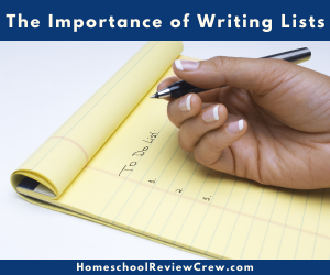 The Importance of Writing Lists @ HomeschoolReviewCrew.com